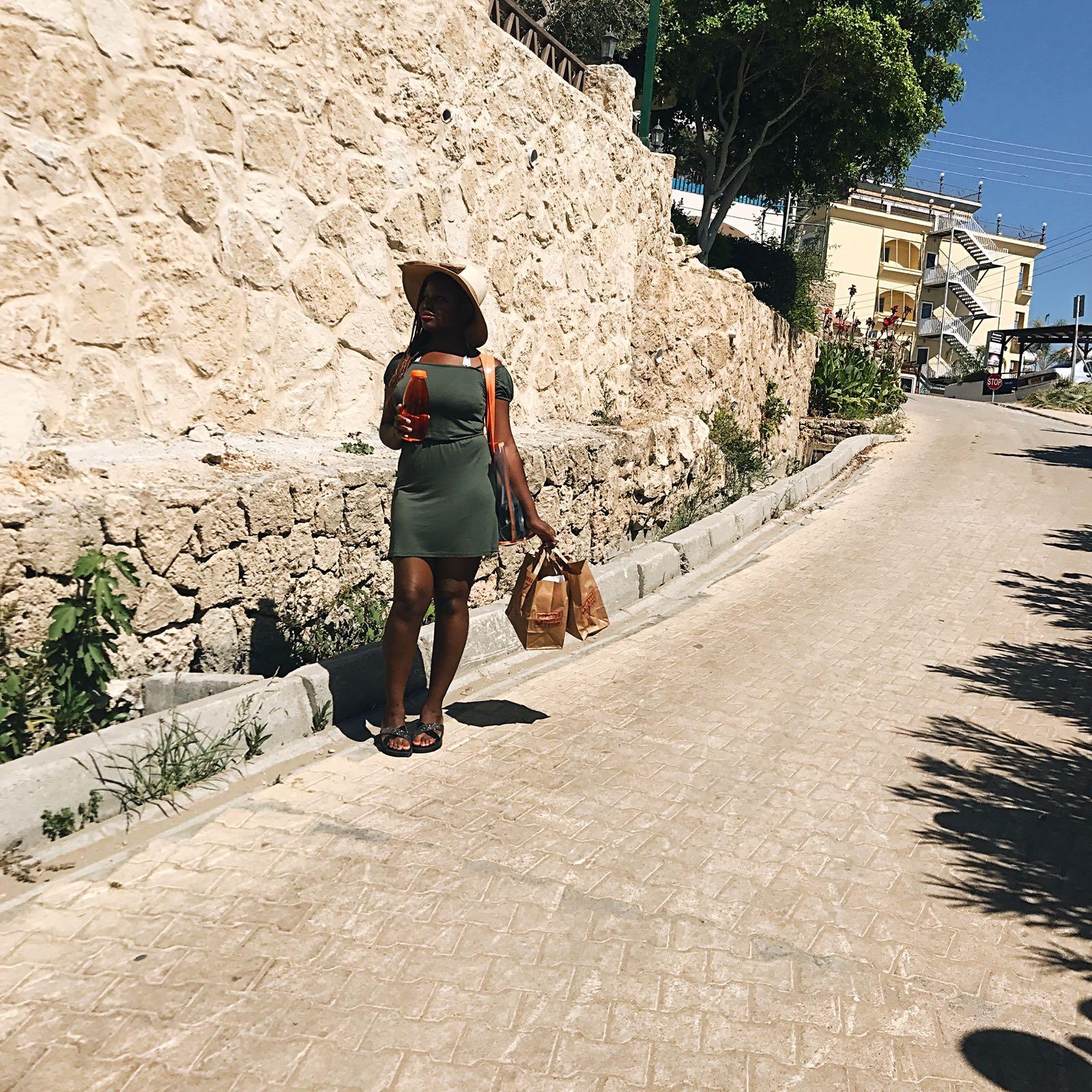 summer beach day, straw hat, sun glasses, beach dress glowing skin