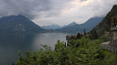 View northwest toward Varenna from must south of Varenna