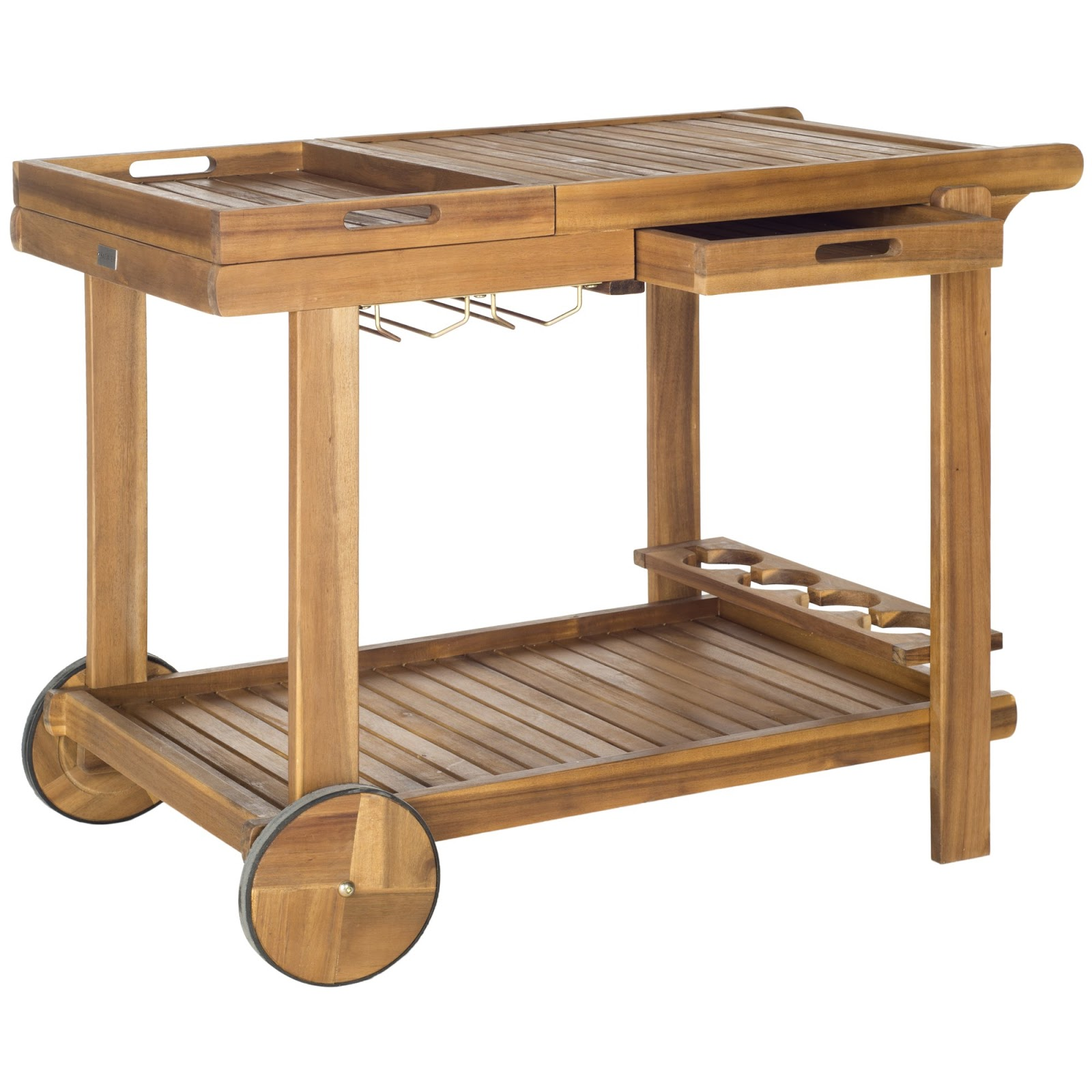 Safavieh Orland Tea Trolley at Decor Market - found on Hello Lovely Studio