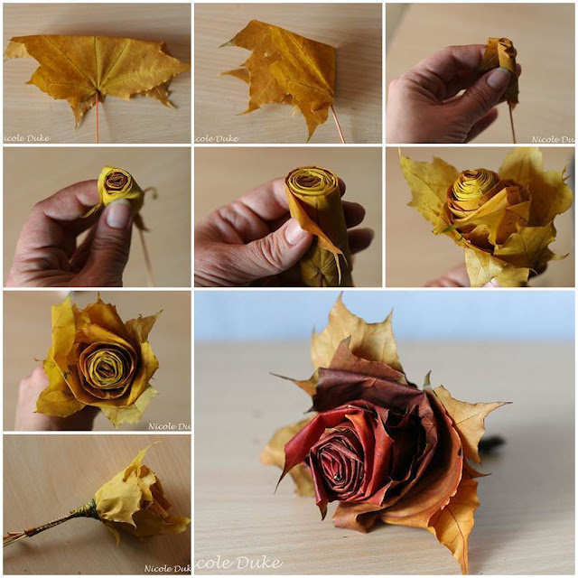 crafts of leaves
