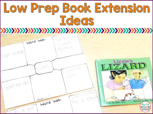 Low Prep Book Extension Ideas