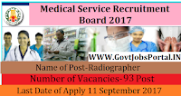 Tamil Nadu Medical Service Board Recruitment – 93 Radiographer