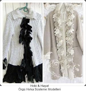Giysi Süsleme - Hırka Süsleme - Hobi Moda - Kendin Yap
