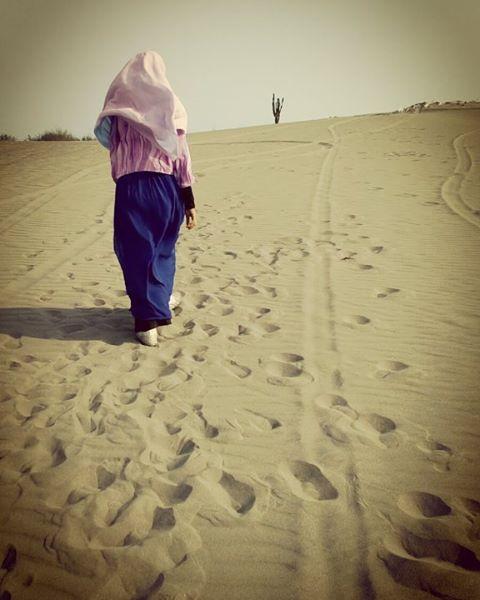 foto pemandangan di gumuk pasir jogja