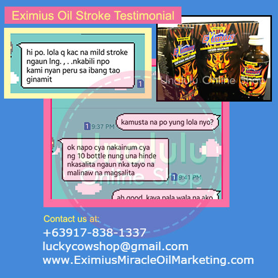 eximius oil stroke testimonial after 10 bottles