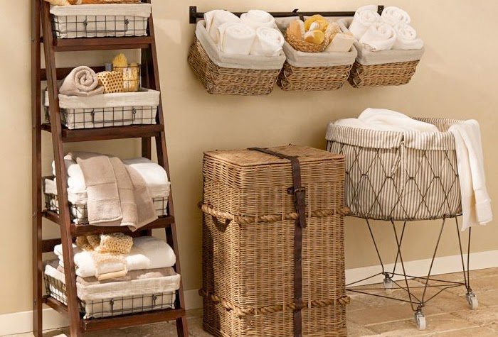 Decoraconmar a detalles para el hogar cestas de mimbre - Reciclar cestas de mimbre ...