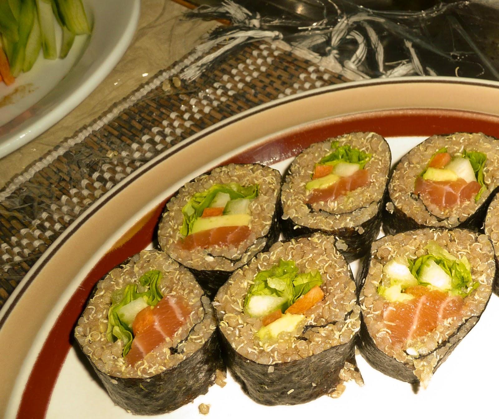 Quinoa Sushi Fusion ~ Fongolicious - so delicious!