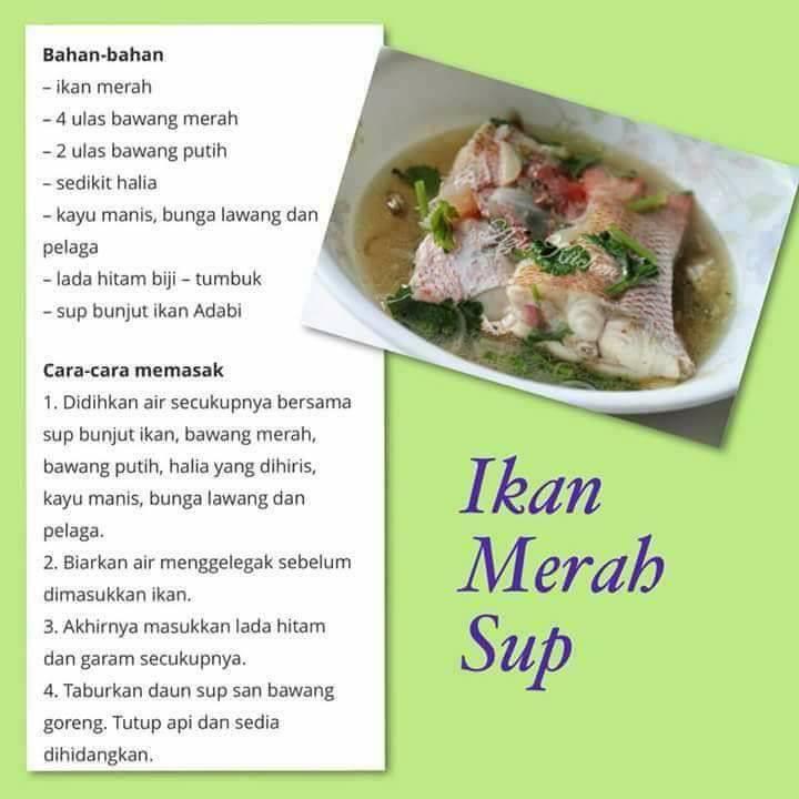 resepi sup ikan merah