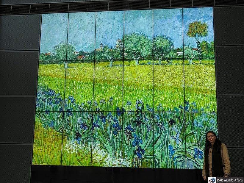 Quadro Field with flowers near Arles de van Gogh - Museu em Amsterdam
