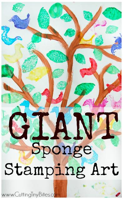 GIANT Sponge Stamping Art