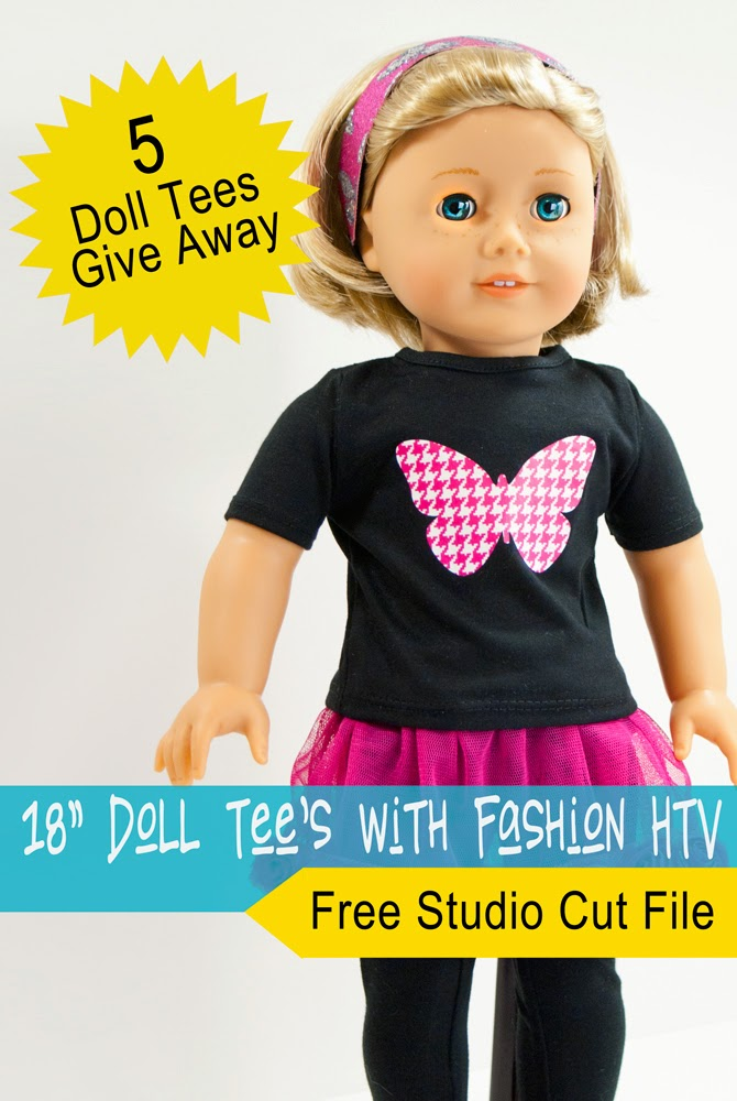 Heat Transfer Vinyl, HTV, doll tees, Silhouette tutorial, DIY, do it yourself