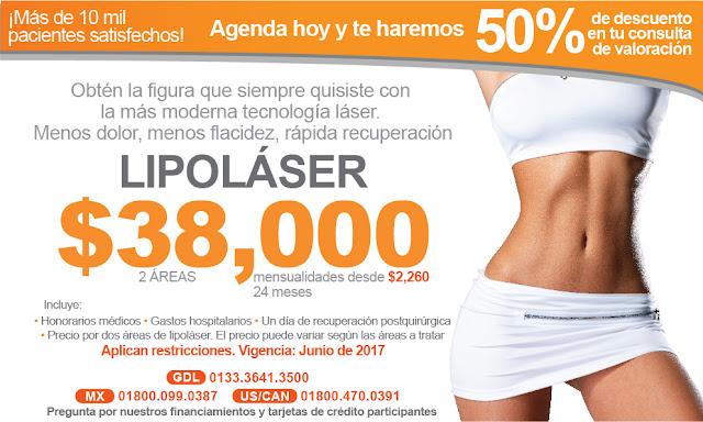lipolaser lipolisis lipoescultura liposuccion marcaje abdominal lipo precio promocion paquete costo guadalajara