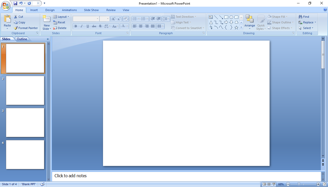 powerpoint 2010 edit template - learn new things always open blank slide in powerpoint