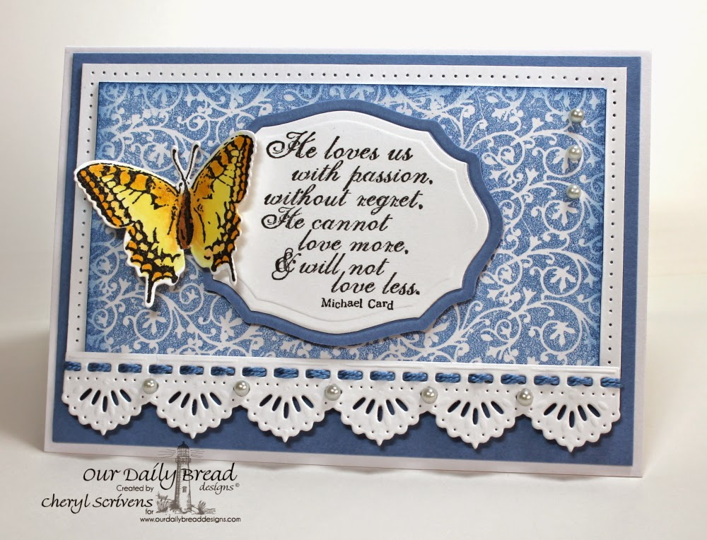 Our Daily Bread Designs, ODBDSLC201, God's Love, 2 Step Butterfly, Chalkboard Vine Background, Grunge Butterfly Die, Elegant Oval Dies, Beautiful Borders Dies, CherylQuilts, Designed by Cheryl Scrivens