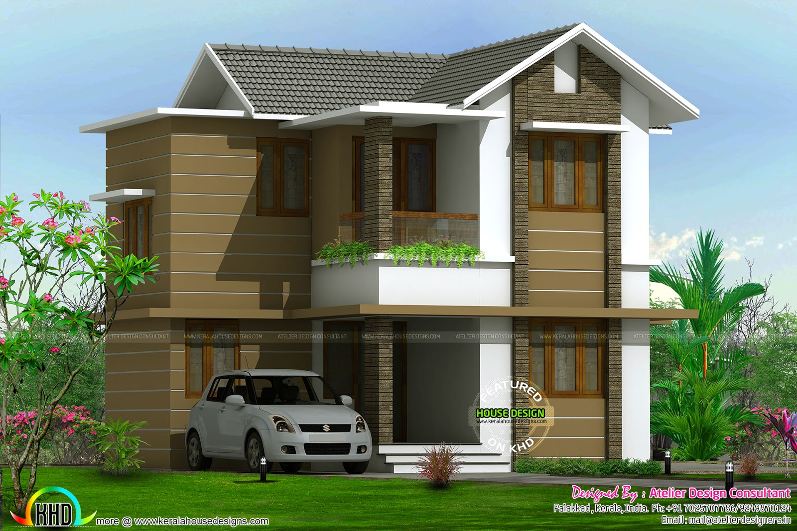 Home Design Consultant Cute Budjet Home In 1400 Sqft Kerala Home Design  Bloglovin