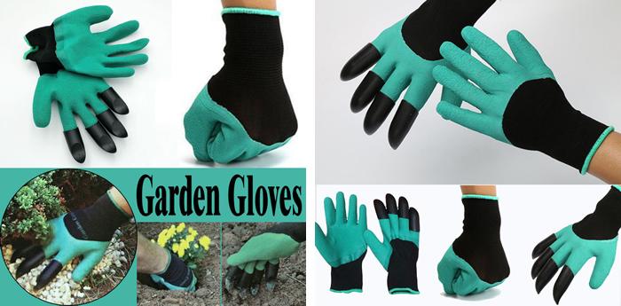 Садовые перчатки с когтями