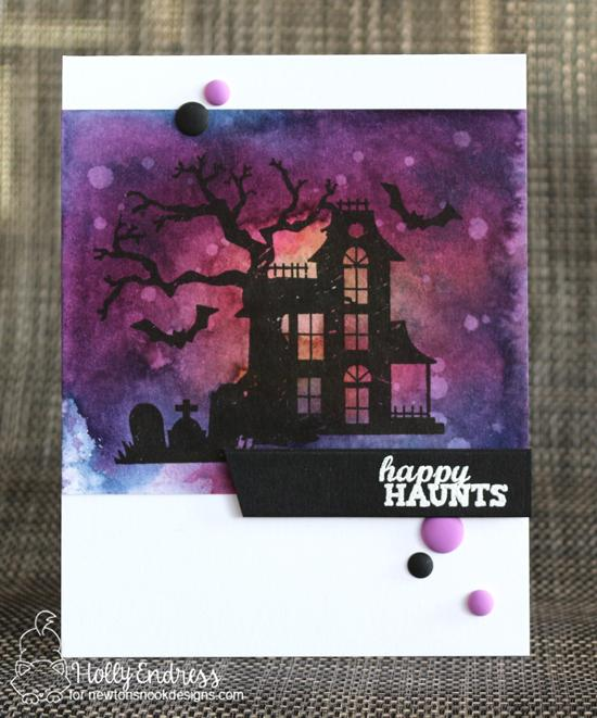 Happy Haunts Card by Holly Endress | Spooky Street Stamp Set by Newton's Nook Designs #newtonsnook #handmade