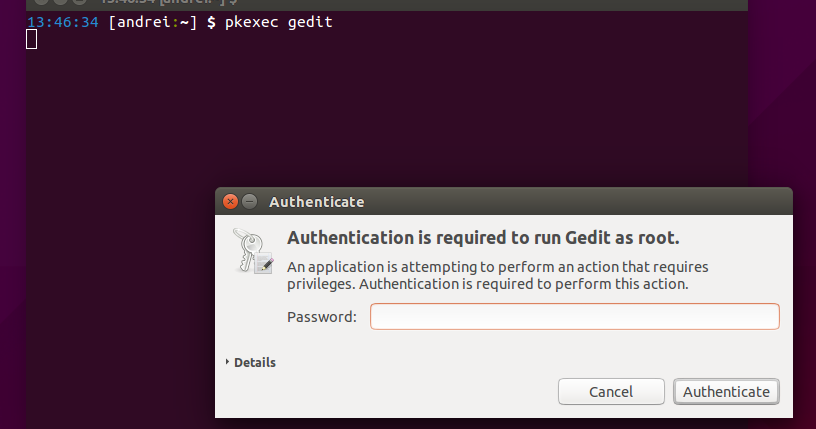How To Run Gedit And Nautilus As Root With pkexec Instead Of gksu