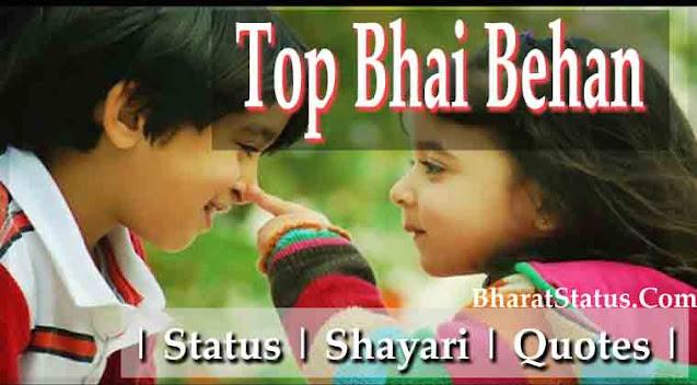 Bhai behan love pyar status shayari in hindi