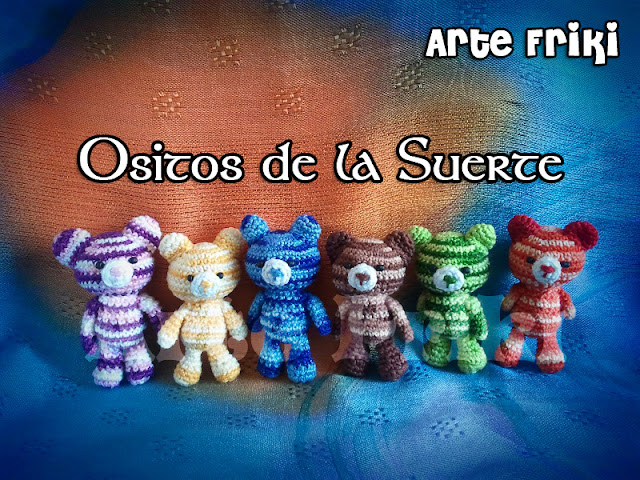 osito de la suerte amigurumi crochet ganchillo mini bear lucky