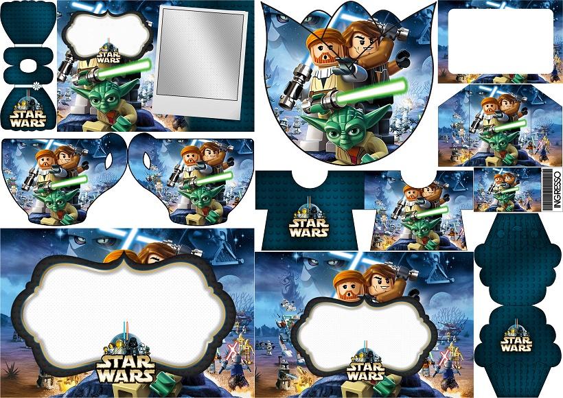 Star Wars Lego Invitaciones Para Imprimir Gratis Oh My