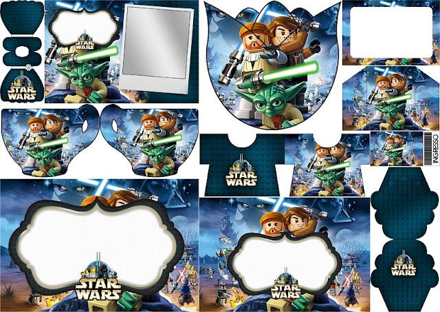 Star Wars Lego: Invitaciones para Imprimir Gratis .