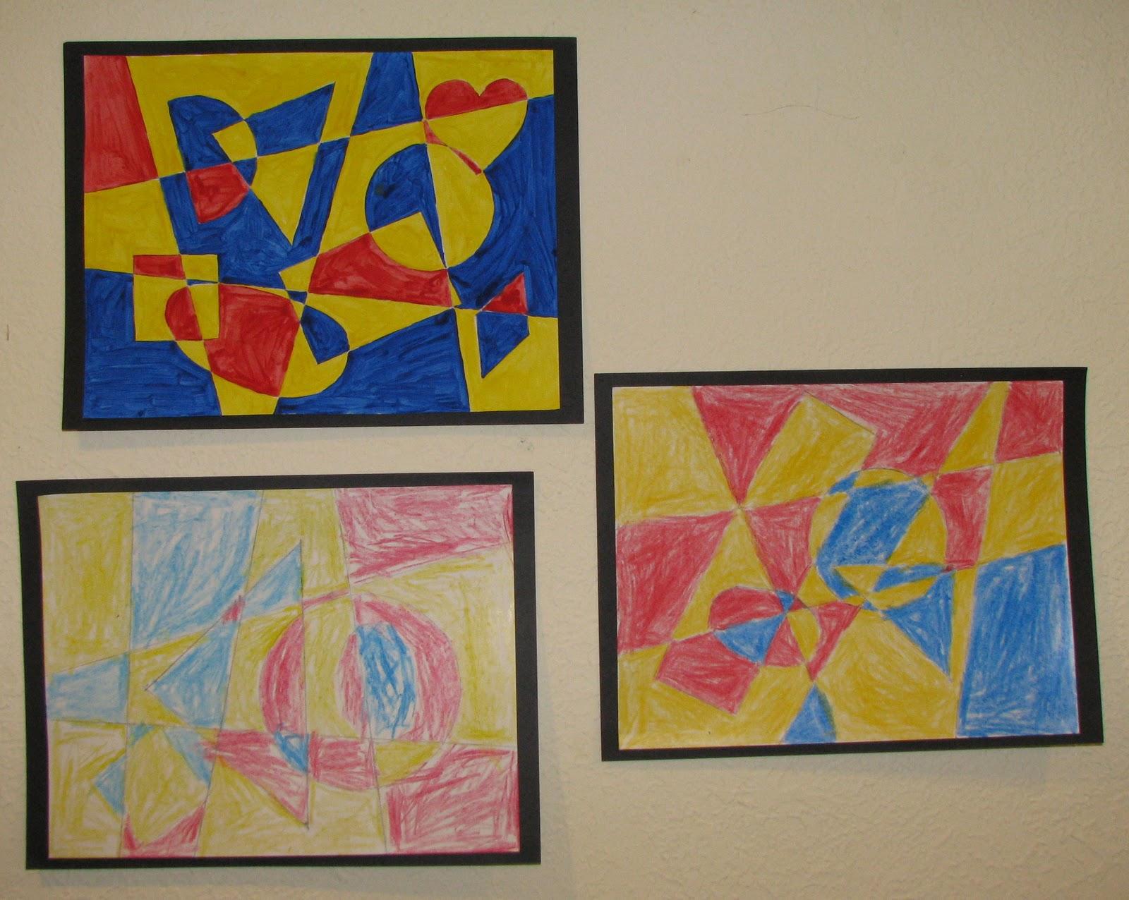 I spy shapes in art math art fun