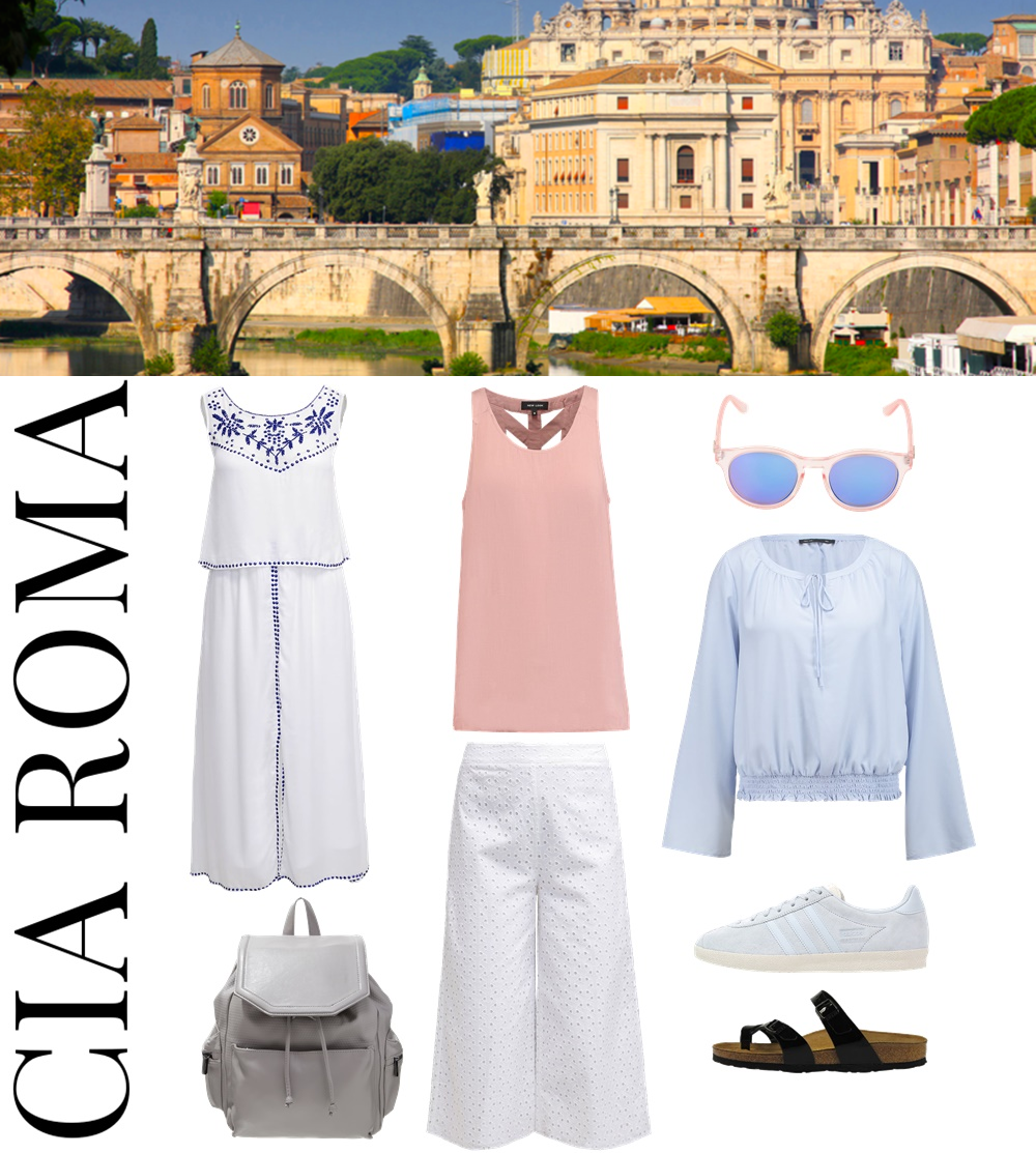 3 different Styles for 3 different vacation destinations... Ciao Roma - perfect outfit and style for your Rom Vacation