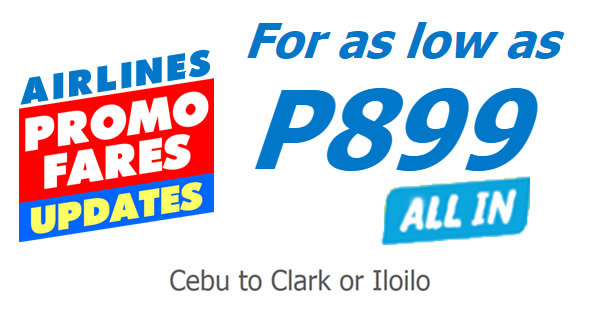Cebu Pacific 899 Promo All-in Fares 2017