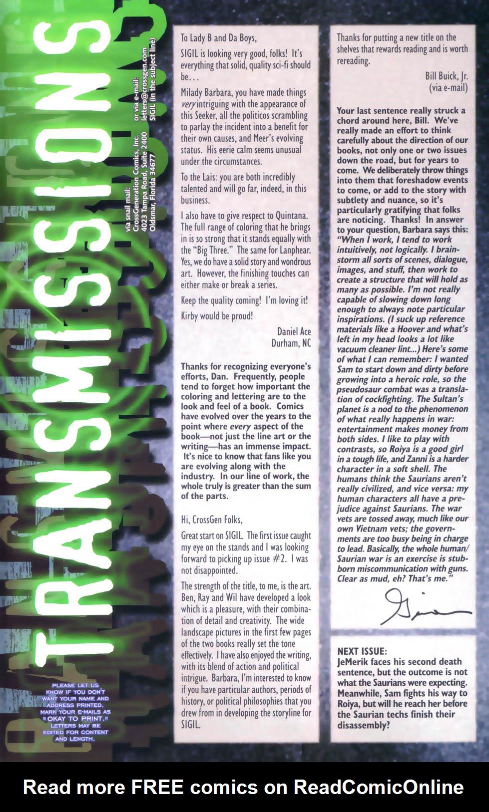 Read online Sigil (2000) comic -  Issue #4 - 34