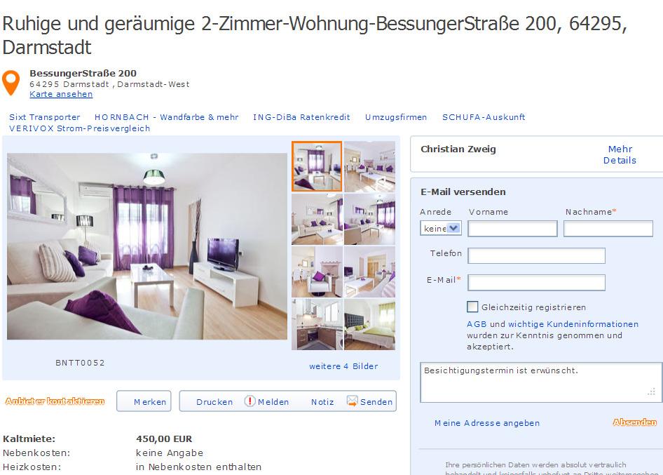 Christianzweig45 for 3 zimmer wohnung darmstadt