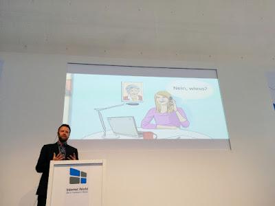 Stefan Huber auf der Internet World 2016: Content Marketing mit Videos.