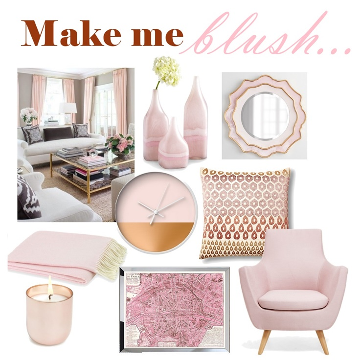 How To Decorate With Blush Pink: Babblings Of A Mommy: Think Pink: Decorating With Blush Tones