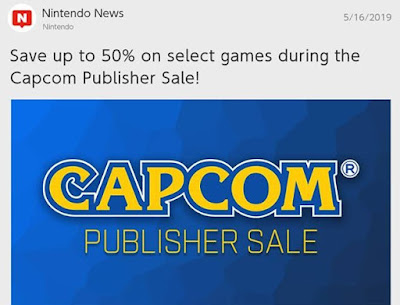 Capcom Publisher Sale Nintendo Switch News May 2019