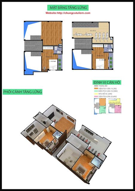thiết kế tầng lửng chung cư Minh Đại Lộc 4