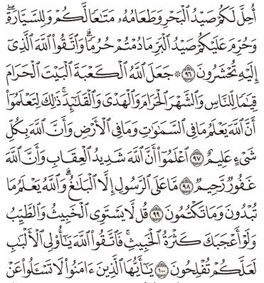 Tafsir Surat Al-Maidah Ayat 96, 97, 98, 99, 100
