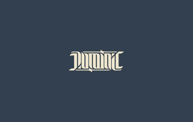 Pengertian Ambirgam, Inspirasi Desain Logo Ambigram - Dominic Logo Ambigram