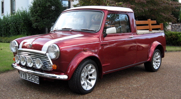 on the road with zoom 1969 mini cooper s pickup truck. Black Bedroom Furniture Sets. Home Design Ideas