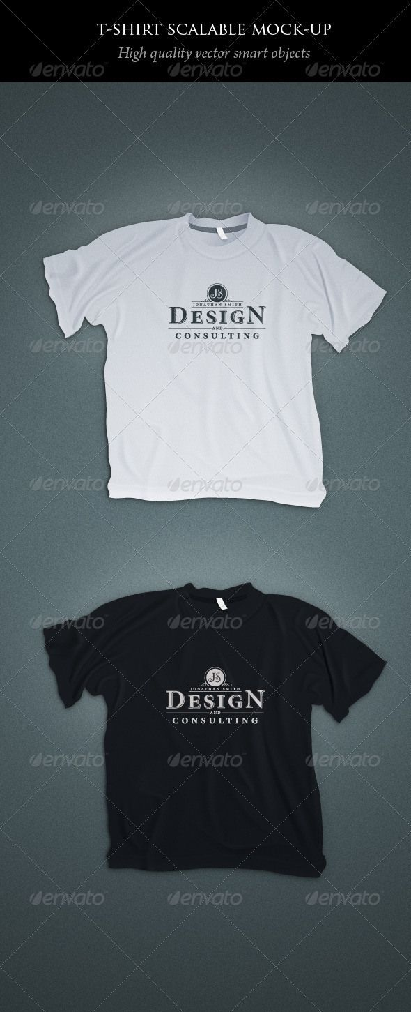 7. Scalable T-shirt Mockups