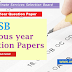 DSSSB Previous year Question Papers - Download PDF