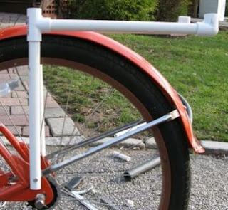 Pipa letter L - support utama  kiri dan kanan ban sepeda