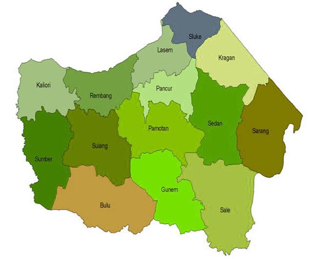 Gambar Peta buta Kabupaten Rembang