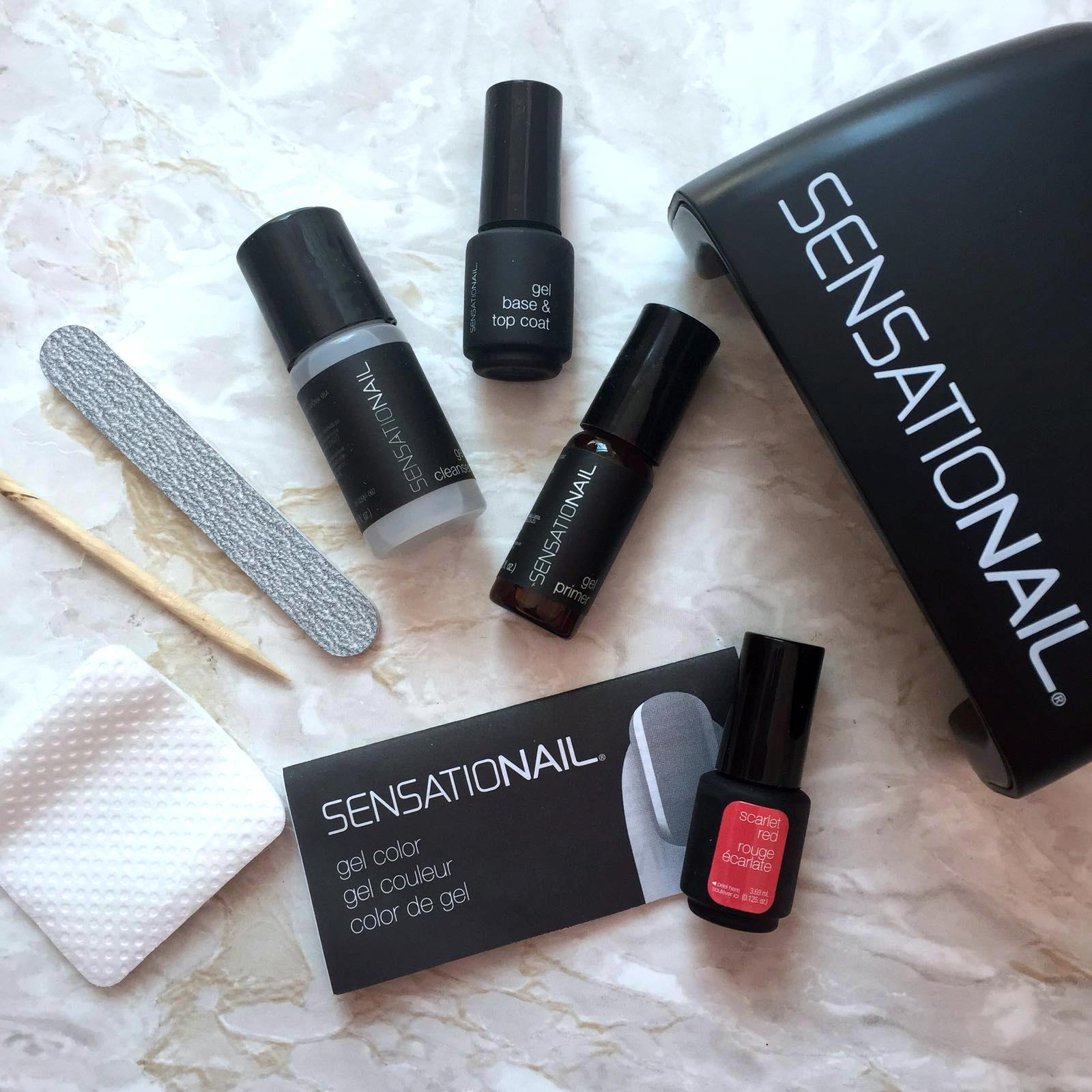 Sensationail Deluxe Gel Nail Polish Starter Kit A Review