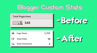 widget estatisticas blogger post view