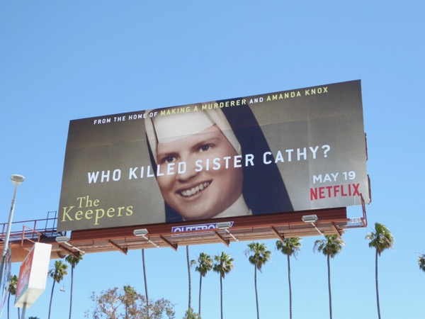 Who killed Sister Cathy Keepers billboard