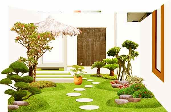 Taman Rumah Minimalis Contoh Gambar Taman Modern