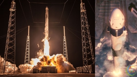 A SpaceX Falcon 9 rocket launches the CRS-15 Dragon cargo mission for NASA from Cape Canaveral Air Force Station in Florida on June 29, 2018.