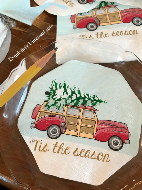 Red Truck Christmas Plate DIY
