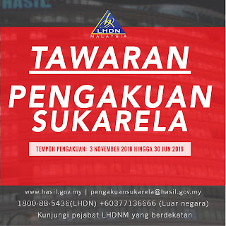 Pengakuan Sukarela Income Tax LHDNM