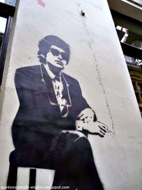 Bob Dylan street art in Brussels, Belgium